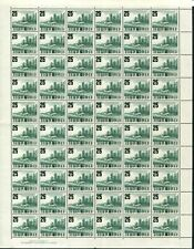 1960 (SG.38) 2/5 on 6½d Airfield, complete sheet (60) with Imprint. Superb MUH