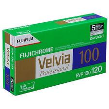 5 Pack Fuji Velvia 100ASA RVP100 120 Rotolo Film-Pellicola a Colori INVERTIBILE DIAPOSITIVA