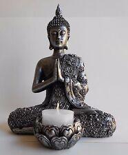 TOP Sehr schöne Buddha-Figur mit Teelichthalter, Höhe 19 cm