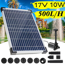 500L/H Solar Panel Powered Water Feature Pump Garden Pool Pond Fountain
