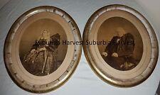 Antique c1860s Framed Photographs Famous Mormons Lucinda Young John M. Young Jr.