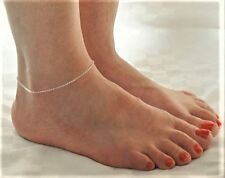 Handmade Super Fine Ankle Bracelet Anklet. Silver plated chain. Pretty Bare Feet