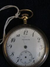 Antique Illinois Pocket Watch c. 1915 17 Jewels B&B Case Size 12s