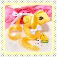 ❤️My Little Pony MLP G1 Vtg Baby Yellow LEMON OOAK Custom Pony 3D Symbol❤️