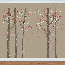 Walplus Birch Tree Forest with Swarovski Crystals Wall Sticker Decorations