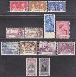 Montserrat 1937-51 KGVI Omnibus Mint inc Coronation / Royal Silver Wedding / UPU