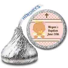 Angel Baby Hispanic Girl Personalized Hershey Kiss Baptism Christening Sticker