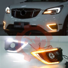 For Buick Envision 2019-2020 LED Fog Light Driving Lamp DRL White+Yellow