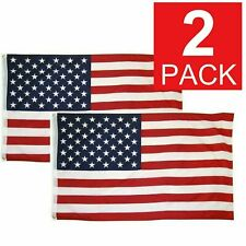 2x3 American Flag w/ Grommets USA United States of America US Flags Decor 2 Pack