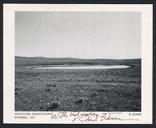"Robert ADAMS (Photographer): ""Alkali Lake, Wyoming 1977"" - Signed Gallery Card"