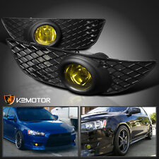 2008-2012 Mitsubishi Lancer ES DE Yellow Bumper Driving Fog Lights+Switch Kit
