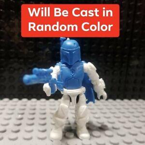 Custom Cast in random color Boba Fett figure Compatible with SW Mega Construx
