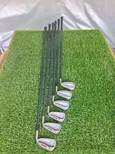 Mizuno MX-17 Irons 3,4,6,8,9,PW - Exsar Blue Stiff Flex Graphite Shafts - RH