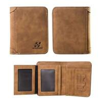 Men's Leather Wallet Pocket ID Card Holder Billfold Slim Clutch Bifold Purse NEW