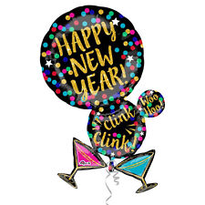 Feliz Año Nuevo con Forma Globo Martini Vasos de Cóctel Decoración Fiesta
