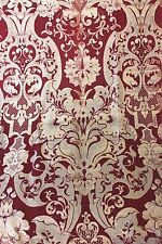 Stunning Antique French Napoleon Iii Fabric c1850~Silk & Wool~Frame Motif