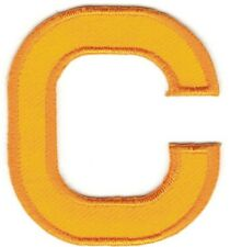 """2"""" x 2"""" Yellow Monogram Block letter C Embroidery Patch"""