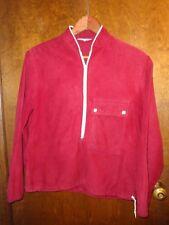 "Vintage ""Windbreaker"" Brand Jacket, Red Velour, 3/4 zipper, 1950s-1960s"