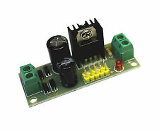 5 V DC  Festspannungsregler - Fertigbaustein - mit Kontroll Led und Kühlkörper