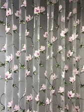Stores Gardine Stoff Vorhang Ausbrenner  Transparent mit Magnolia rosa 2
