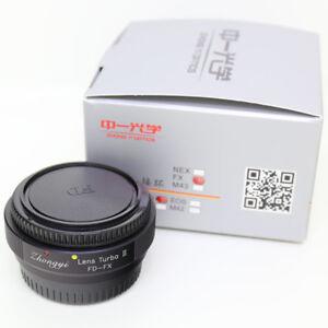Zhongyi Lens Turbo II Focal Reducer Booster Adapter Canon FD to Fujifilm FX X
