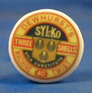 Birchcroft China Button -- Dewhurst Sylko Thread - One Inch Size ( 25 mm )