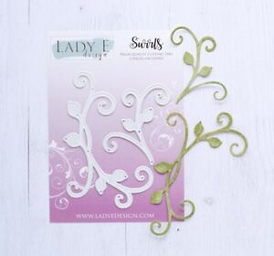 Lady E Design Swirls Cutting Die Set, Flower Making, Foam Flowers