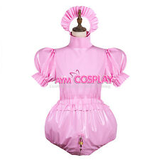 Lockable adult baby PVC  Romper Vinyl cosplay Tailor-Made [G3743]