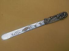 Antique Japanese Silvered Bronze Page Turner Rats Corn Meiji