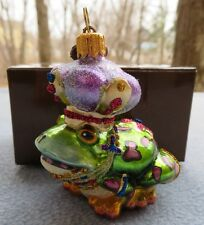 Jay Strongwater Mini Frog Prince Ornament Swarovski Elements New In Box