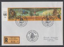 Vereinte Nationen Wien 1993 Reko FDC Mi Nr: 156-157 Klimaveränderungen