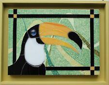 tableau verre et emaux de Briare mosaique Toucan - Toucan mosaic art