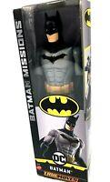 "Batman DC True Moves Missions 12"" Figure Mattel Mint in Box TrueMoves Gray Black"