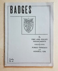 Ca. 1930s to 1940s Badges Catalog for Police and Fire Departments