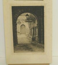 E. Mary Shelley Limited Edition lithograph  91/150 The Old Quadrangle, Exeter