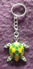 Gift Green and Yellow Turtle/tortoise Keyring BN