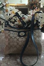 COACH PENELOPE SIGNATURE SATEEN HIPPIE F19259 - Cross Body Shoulder Bag EUC