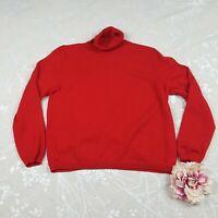 Pendleton Red 100% Merino Wool Turtle Neck Women's Sweater Sz M