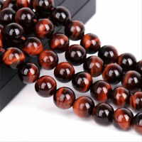 4/6/8mm Natural Red Tiger's Eye Gemstone Round Loose Spacer Beads 15""