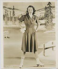 1938 Graham's Hollywood Fashion press photo of Jane Bryant on Ice Skates