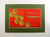 alter Kino Druck Bild hinter Passepartout Film Spartacus 1960 36x26cm 190