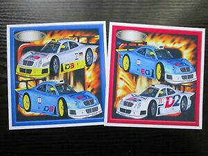 2 x RALLY CARS  Mens/ Boys  Card Toppers & Sentiments