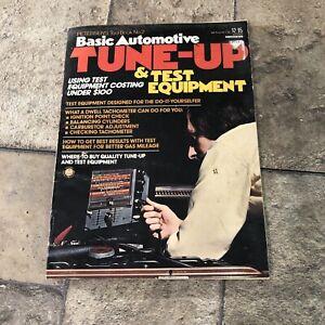Vintage 1974 Petersen's Basic Automotive Tune-up & Test Equipment Manual Book