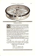 1920 ad Vintage Car Part Stanweld Detachable Rims Standard Welding Co. Cleveland