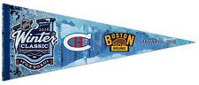 NHL WINTER CLASSIC 2016 Boston Bruins v Montreal Canadiens Premium Felt PENNANT