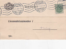 Postcard 1918 Beautiful Stockholm 2 Strike Tto Floby Sweden used VGC