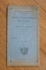 SERVICE GEOGRAPHIQUE DE L'ARMEE CARTE DE FRANCE  1 : 20 000 : MOUTIERS N° 8 1930