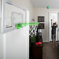 Mini Basketball Hoop Kids Office Dorm Wall Mobile Backboard Garage Spring Dunk