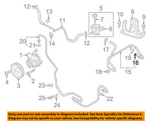 VW VOLKSWAGEN OEM 11-17 Touareg Pump Hoses-Steering-Return Hose O-ring 7M0422999
