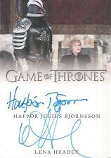 Game of Thrones Complete Series, Bjornsson / Lena Headey Dual Autograph Card